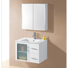 Waterproof mdf wall mounted bathroom furniture with cabinet
