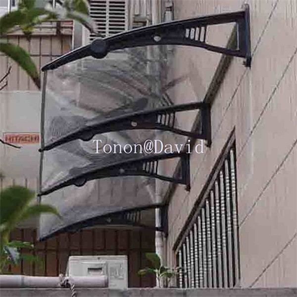 China polycarbonate awning manufacturer economical rain protection for windows (TN0086)