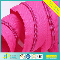 5# China high quality zip rolls manufacturers nylon teeth long chain zipper for sale