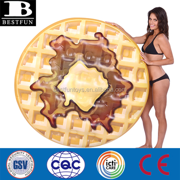 Heavy duty durable ROUND Pool party float Waffle 56 Float original waffle swim raft inflatable