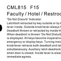CML815 Faculty Hotel Restroom Lock ANSI