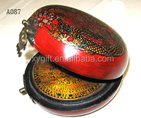 round chinese art boxantique leather compass box