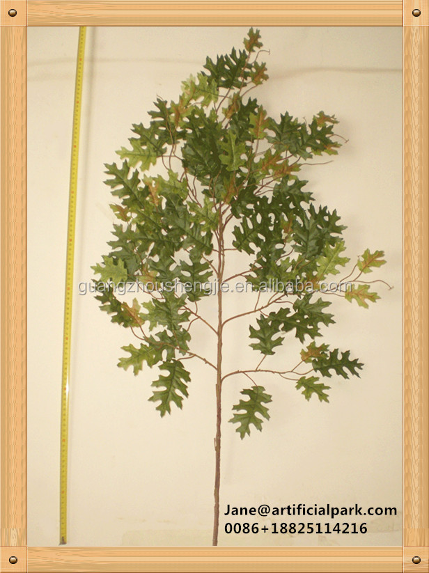 High quality cheap artificial fake oak tree leave sale for decoration/decorative artificial fake oak tree leaf made in China
