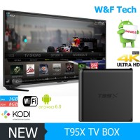 Factory Price Quad Core Amlogic S905 TV Box 4k hd smart t95x Amlogic S905X Android 6.0