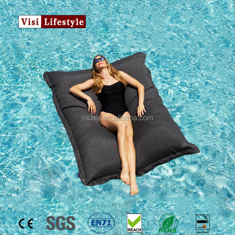 2017 XXL cool transformable waterproof swim beds giant pool floating bean bags outdoor