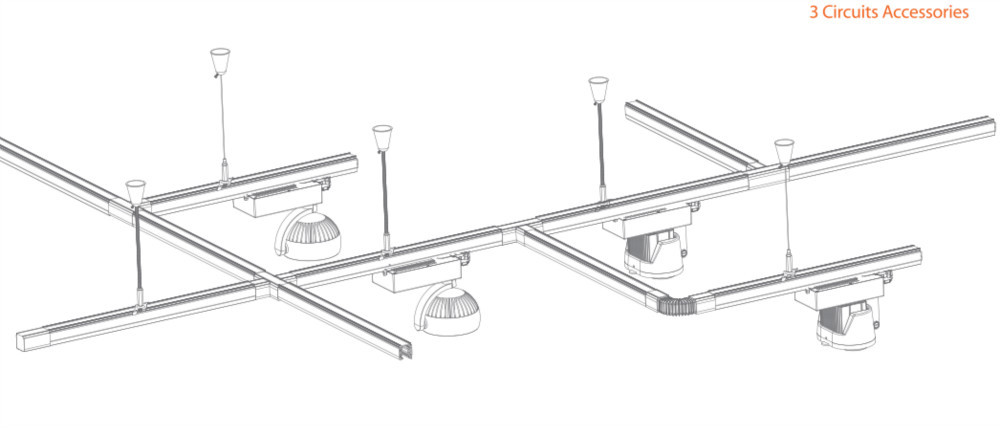 Led Commercial Lighting Track Rail Accessory Single Phase