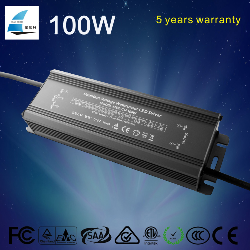 130w led driver waterproof constant voltage 12v emergency led driver
