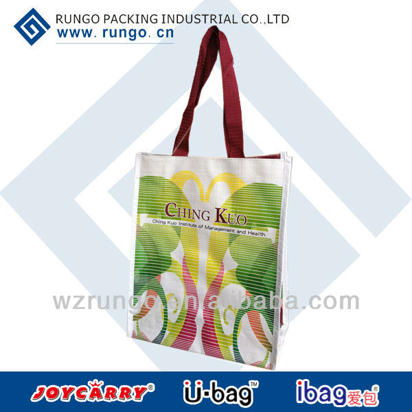 Wholesale PP Woven Green recycle shopping bag