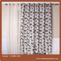 100% polyester curtain design curtains india in Guangzhou sample book