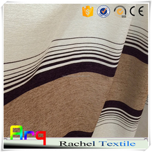 New stripe Chenille jacquard fabric modern plain style for curtain home or hotel office using