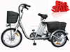 EN15194 approved electric tricycle for cargos / three wheels electric bike with basket