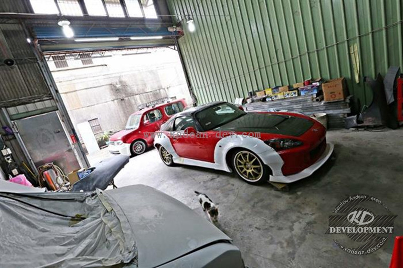 S2000 M&M HD RACING HYPER WIDE AERO KIT (FRONT OVER FENDER, SIDE SKIRTS & REAR OVER FENDER FRP FIBER GLASS