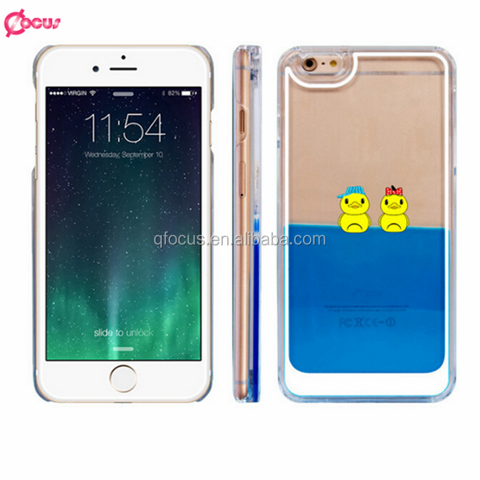 Hot-selling 3d phone case for iphone 6 plus case,Duck Prince cover with 3d liquid phone case for iphone 6,for smartphone