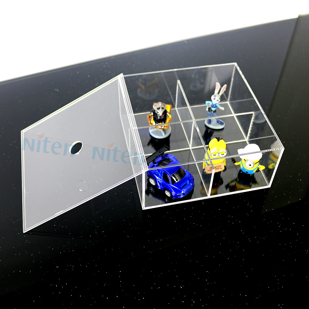 Acrylic divided perfume fancy storage boxes