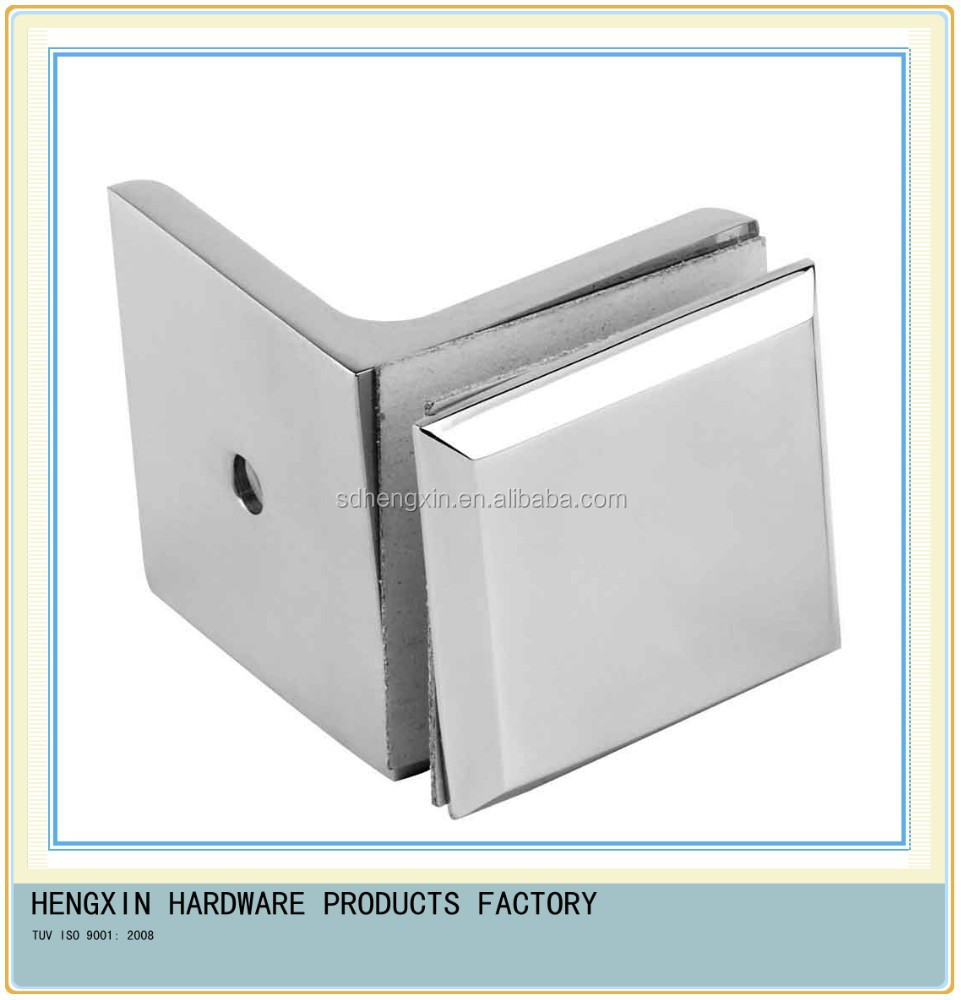 Shower Screen Fixing Bracket HX-G-1 with Mirror Polished Finish