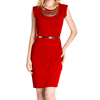Plus Size Summer Knitted Fabric Office Lady Pretty New Dress