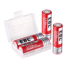 EBL 26650 Li-Ion Battery 3.7 Volt 3350mAh Rechargeable Lithium Ion Battery