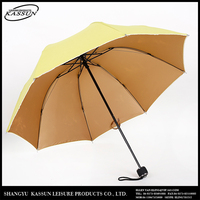 Custom design widely use new fashion 3 fold air vent umbrella