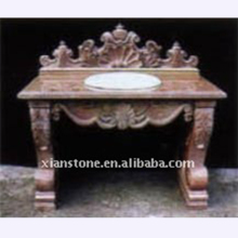 natural marble antique bathroom vanity