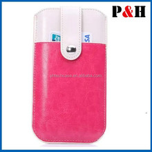 for mobile phone case With card slot Sleeve Bag Leather Case for i Phone 6 plus Pouch