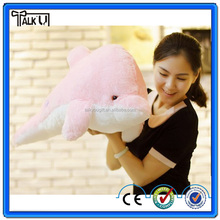 Animal plush led dolphin pillow, led flashing light up hug dolphin pillow