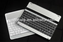 2013 Aluminum alloy ultra-flat bluetooth keyboard for ipad /iphone