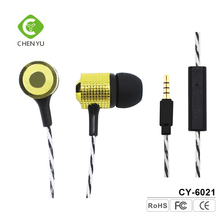 Universal Earphone 3.5mm Stereo In-ear Headset With Mic For iPhone 7 iPad Samsung Galaxy S5 Note 4