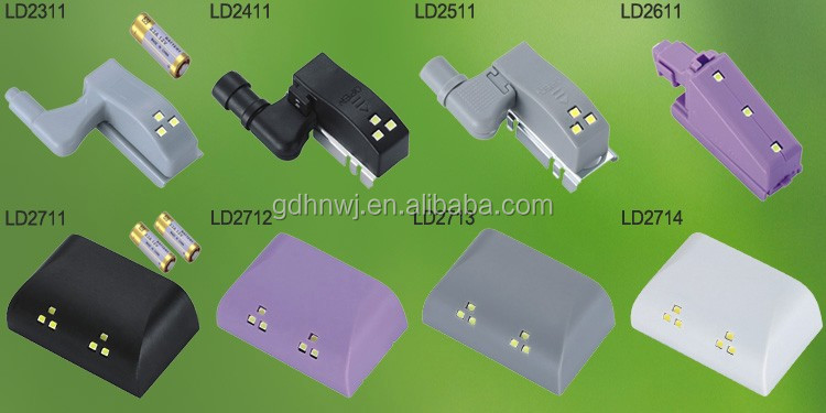 cabinet door LED light with battery LED light for hinge