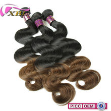 XBL Wholesale 7A High Quality Two Tone Ombre Colored Hair Weave Bundles