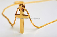 charm high quality necklaces cross stainless steel jewelry