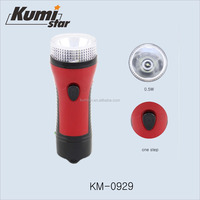rechargeable led plastic flashlight torch light KM-0929