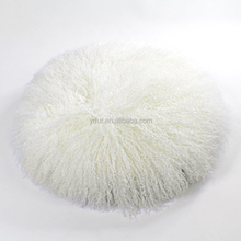 YR910 China Alibaba Round Featured Sheep Fur Cushion Cover Custom