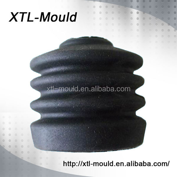 Wholesale new age products Custom Black Color Small silicone rubber bellows dust cover mould