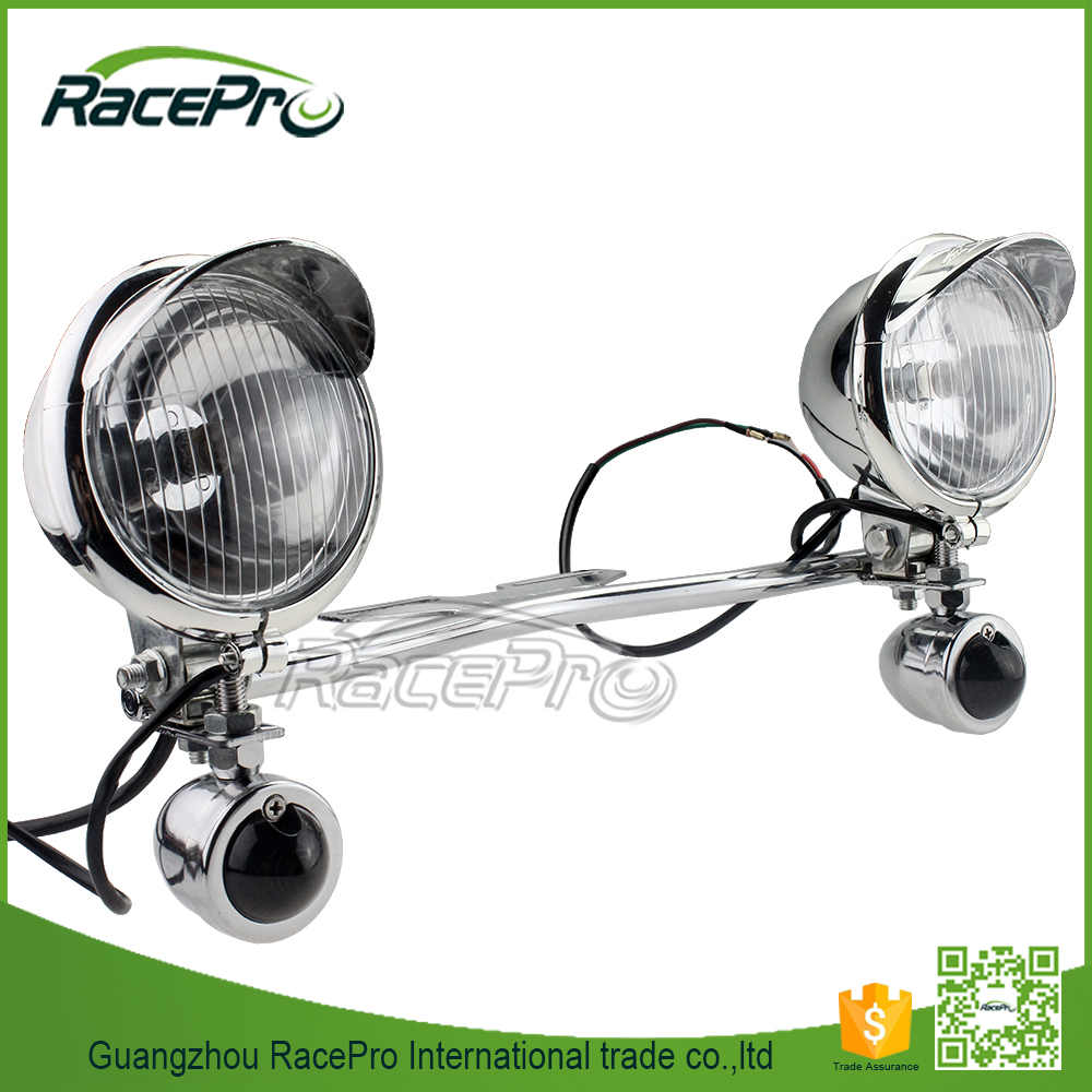 Turn Signal Driving Passing Spot LED Spotlights Motorcycle Touring Chopper Custom Cruises