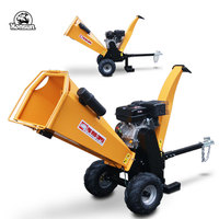 Professional manufacture supplier gasoline motor B&S 420cc engine mini mini wood chipper shredder