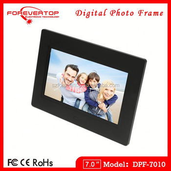 2016 factory low price 7 inch Video Blue Film Digital Photo Frame
