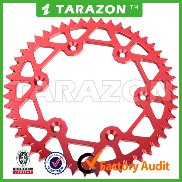 hot sale CNC motorcycle rear aluminum 38-55 teeth sprocket for dirt bike CR 250 450