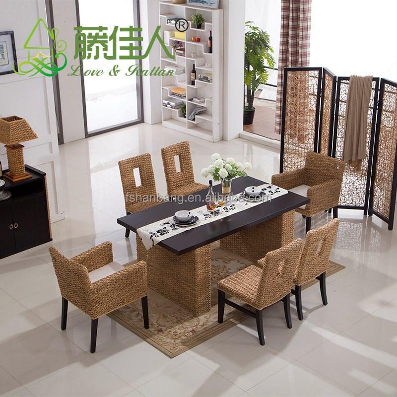 China hotsale de mimbre rattan mesa comedor y silla conjunto-Sets ...