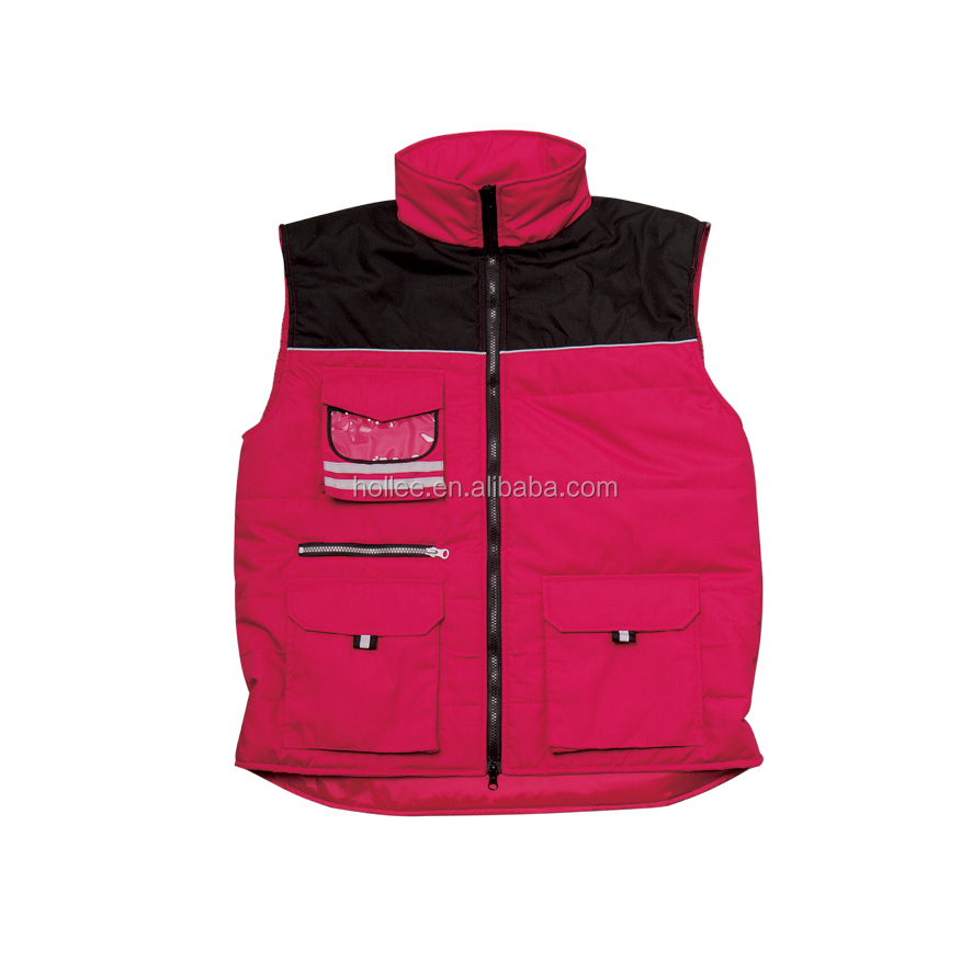 promotion winter padded vest multipockets body warmer vest