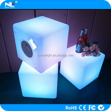 led light battery powered cube waterproof chair