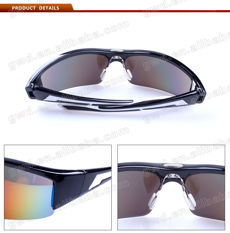 fashion sport golf ball finder glasses with Unique lines design