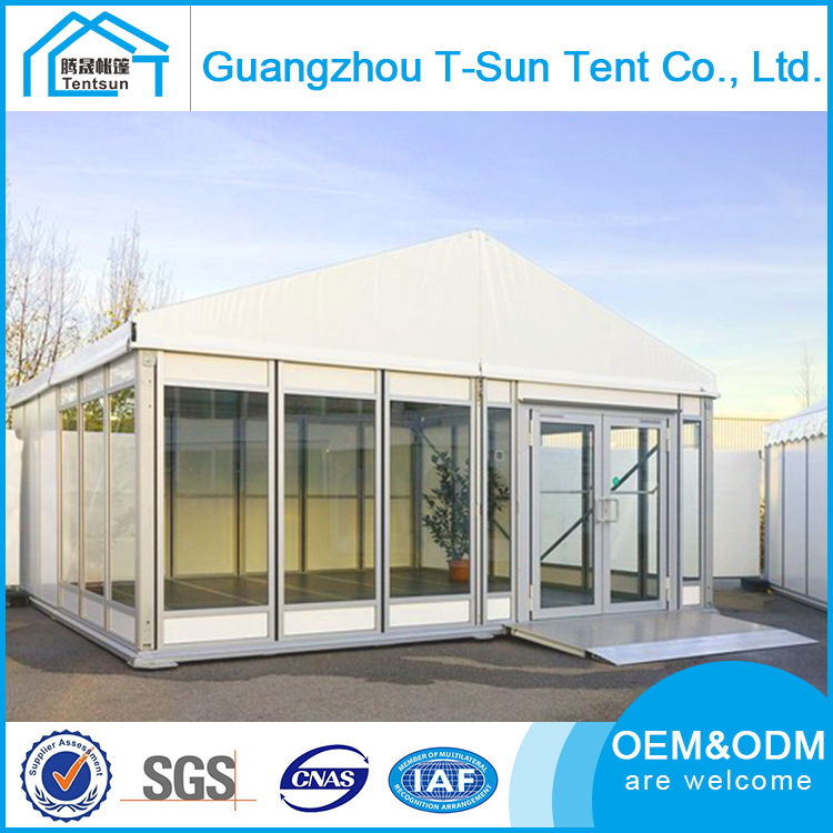10m Clear Span Big Glass Wall Outdoor Wedding Party Tent in GuangZhou