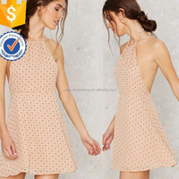 Halter Multicolored Mini Dresses For Ladies Manufacture Wholesale Fashion Women Apparel (TS0212D)