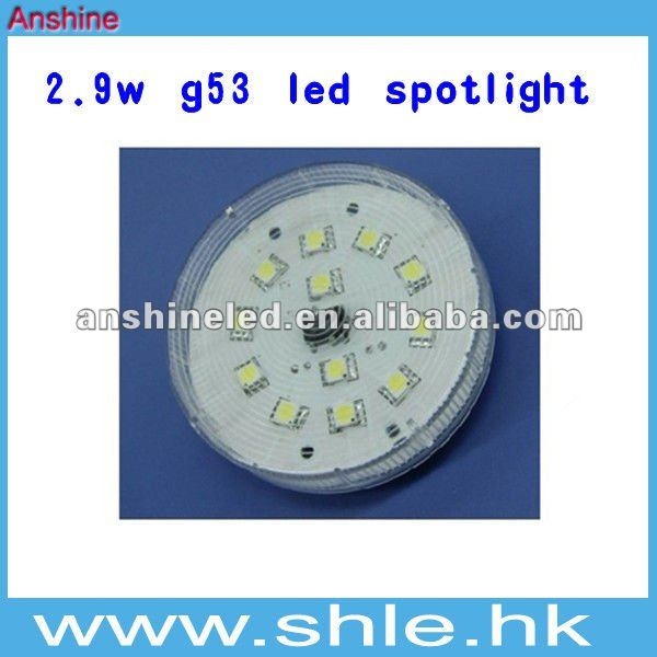 2.9w 163lm gx53 led spot lights