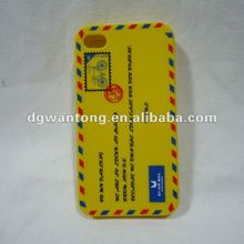 Letter printing silicon case for Iphone4