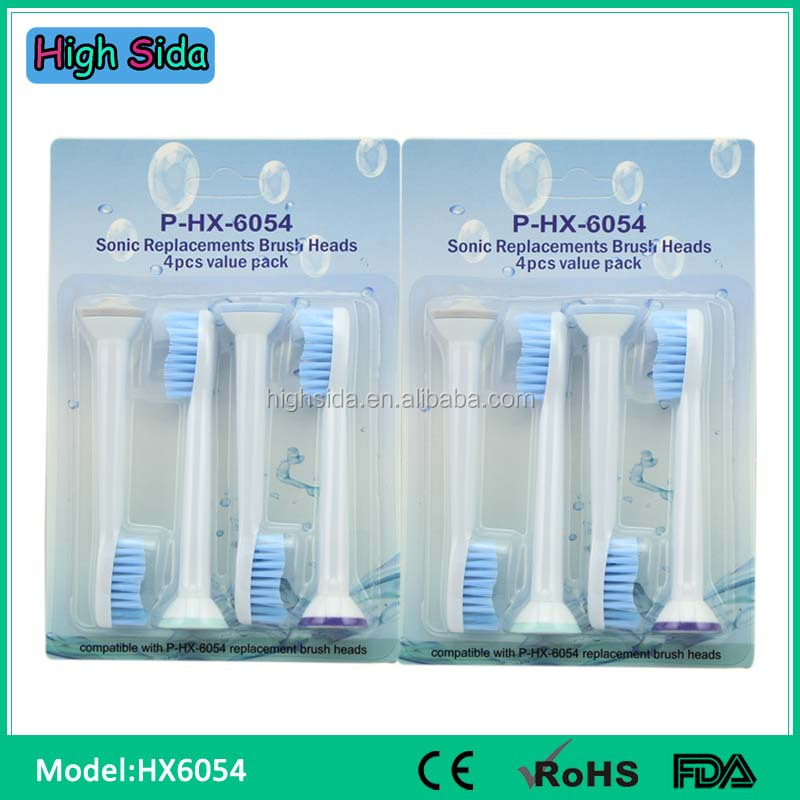Toothbrush Factory Ultrasonic Toothbrush Heads HX6054 For Philips