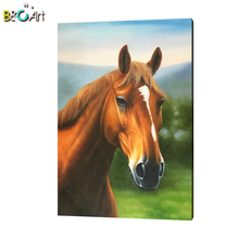 Handmade canvas animal oil painting art abstract horse painting