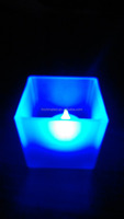 LED candle electronic led candle in glass cup