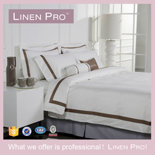 LinenPro Custom Made Ribbon Embroidery Bedding Set Hotel Crochet Bed Sheet