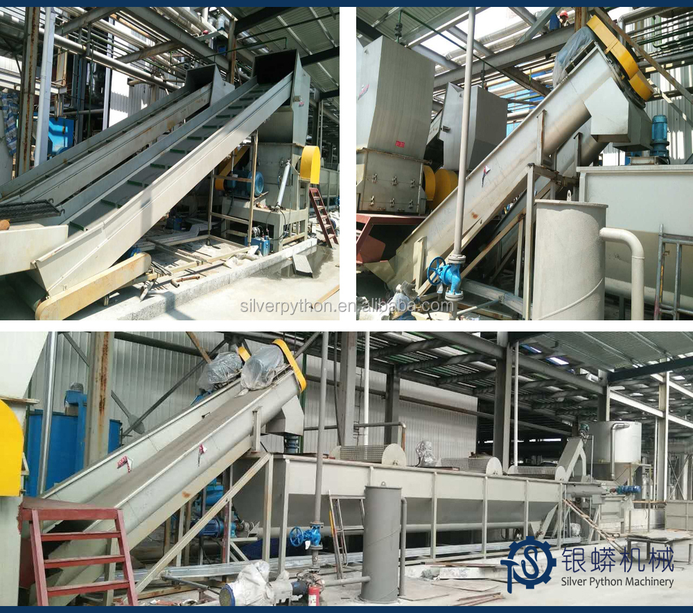 used PET bottles processing line